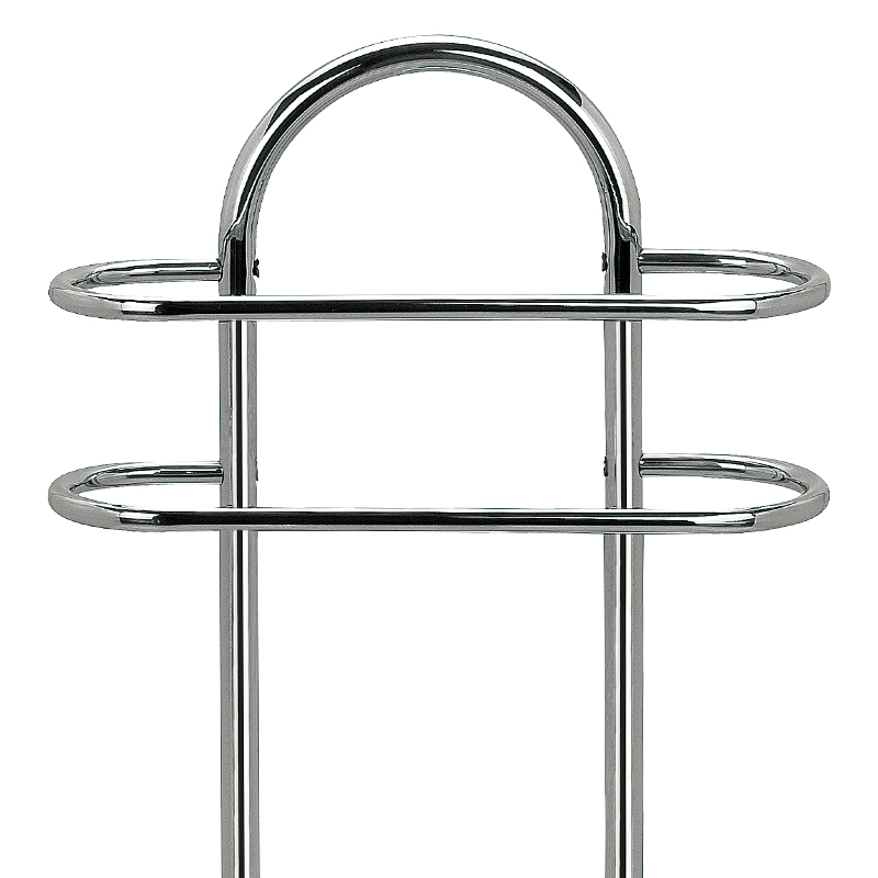Two layers round freestanding towel rack